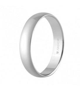 WEDDING RING WHITE GOLD CLASSIC 4MM COMFORT