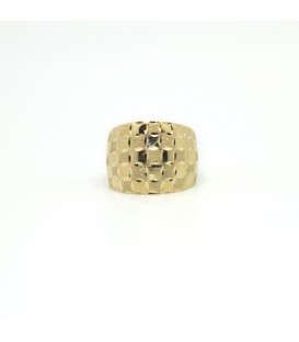 18 kts Plain yellow gold ring