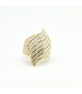 Sortija de oro amarillo 18 kts y diamantes