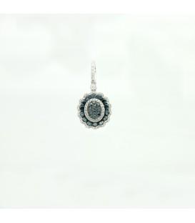 14 kts white gold pendant with diamonds