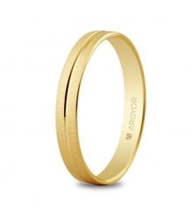WEDDING RING 3MM YELLOW GLOSSY GOLD