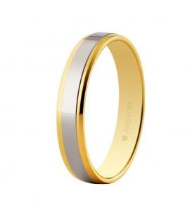 WEDDING RING BICOLOUR 3.8MM