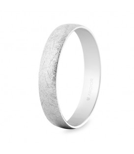 WEDDING RING WHITE GOLD ICE EFFECT 4MM