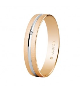 WEDDING RING TWO TONE ROSE GOLD WITH DIAMOND