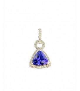 Tanzanite and white diamond pendant